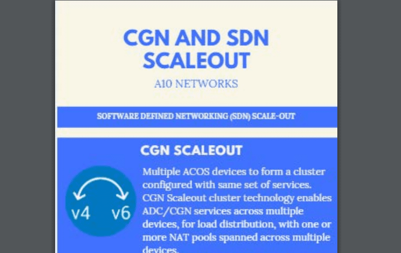 CGN and SDN ScaleOut image